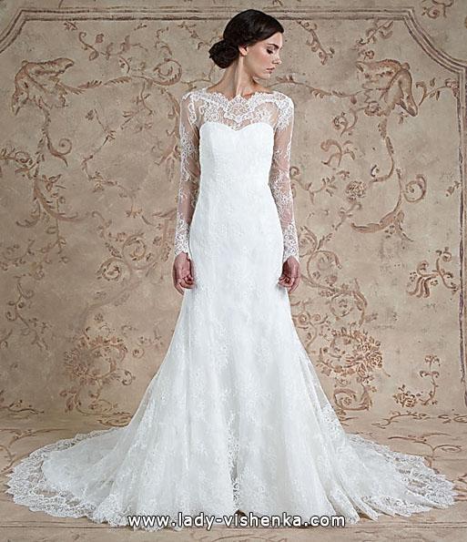 Lace wedding kjoler langermet - Sareh Skrek