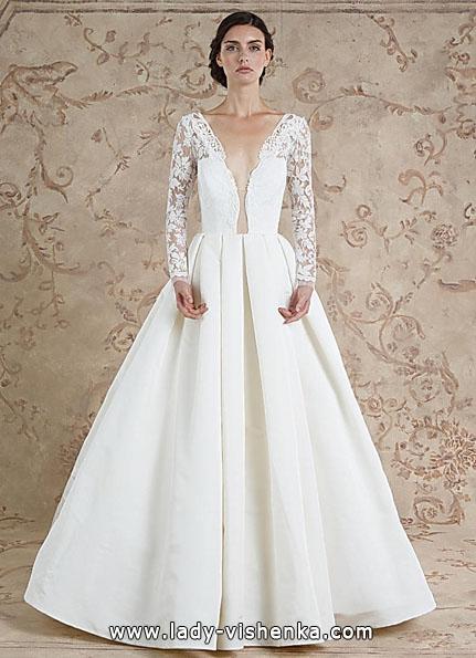 Wedding kjoler med blonder ermene 2016 - Sareh Skrek