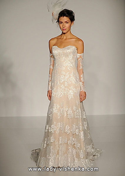 Wedding kjoler med blonder ermene 2016 - Sottero og Midgley