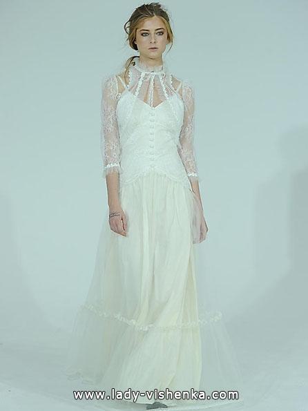 Wedding kjoler med blonder ermene bilder Claire Pettibone