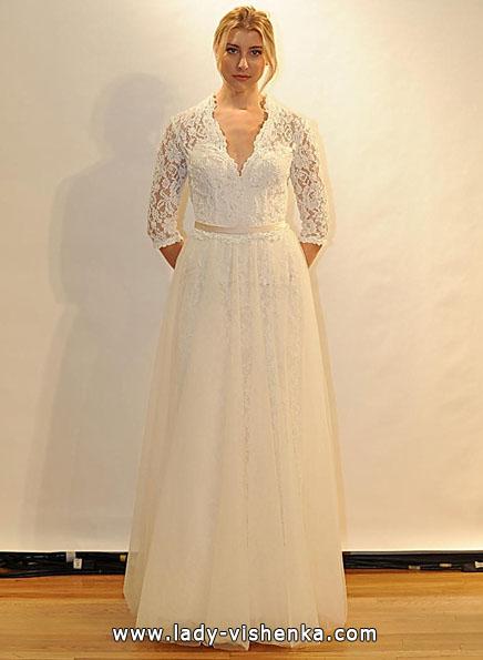 Wedding kjoler med blonder ermer - Val Stefani