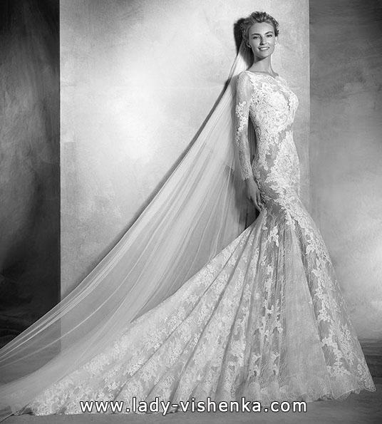 Blonder bryllup kjole med lange ermer - Pronovias