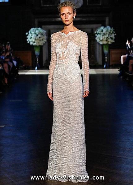 Wedding kjoler med blonder ermene 2016 - Alon Livne