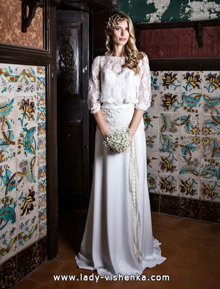 Wedding kjoler med blonder ermer - Jordi Dalmau