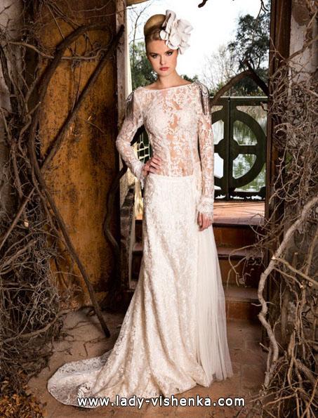 Wedding kjoler med blonder ermene bilder Jordi Dalmau