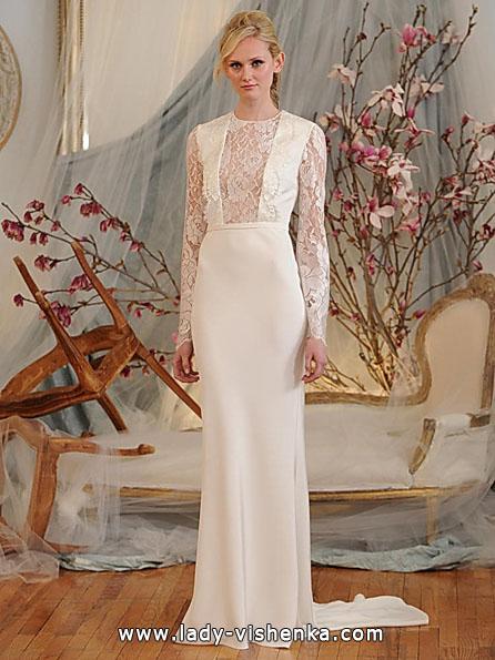 Wedding kjoler med blonder ermene av Elizabeth Fillmore