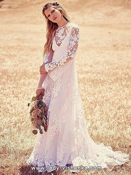 Wedding kjoler med blonder ermer - Fritt Folk