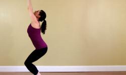 Yoga positur - stol