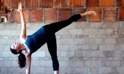 Yoga utgjøre - half moon