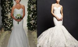 Havfrue blonder brudekjole