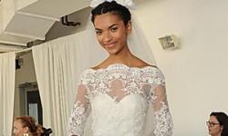 Wedding kjoler med blonder ermer